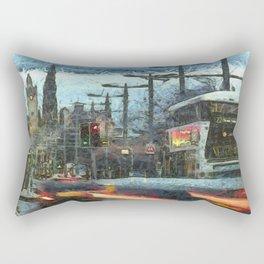 Edinburgh Night Bus Rectangular Pillow