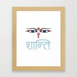 Shanti - buddha eyes Framed Art Print