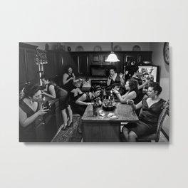 Reflections in Wine - Self Tableau Metal Print