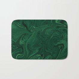 Modern Cotemporary Emerald Green Abstract Badematte