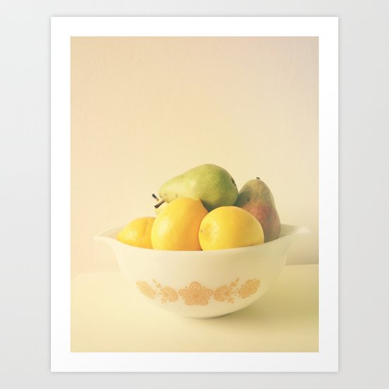 Retro Fruit Art Print