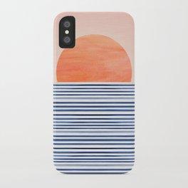 Summer Sunrise - Minimal Abstract iPhone Case
