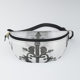New Orleans Marigny Black and White Fence Fanny Pack