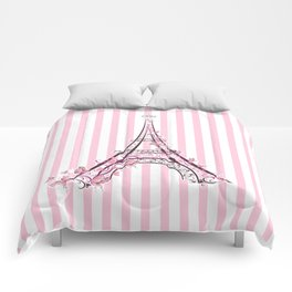 Pink Paris Eiffel Tower Comforters
