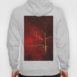 Kintsugi Red #red #gold #kintsugi #japan #marble #watercolor #abstract Hoody