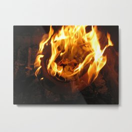 Fire Ring Metal Print
