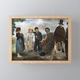Edouard Manet The Old Musician Framed Mini Art Print