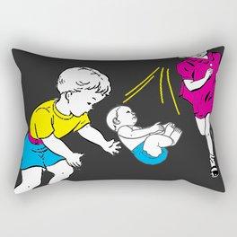 Catching Babies Rectangular Pillow