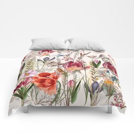 Bright spring field. Romantic pattern Comforters