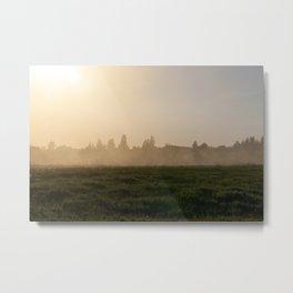 dust at sunset Metal Print
