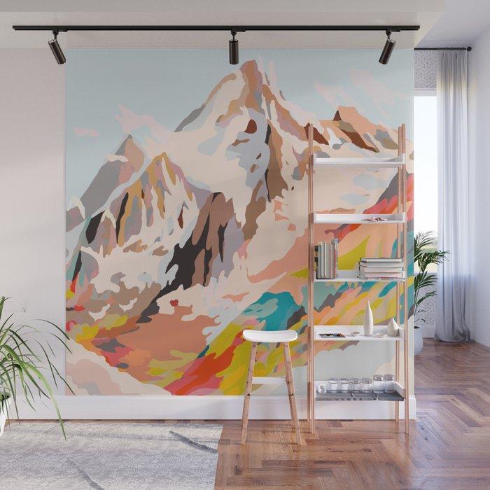 glass mountains Wall Mural