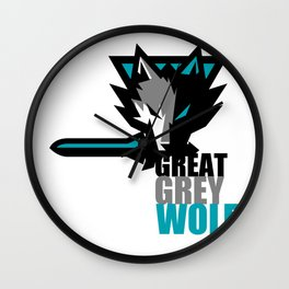 Great Grey Wolf Wall Clock