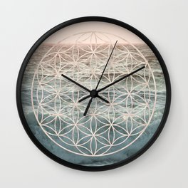 Mandala Flower of Life Sea Wall Clock