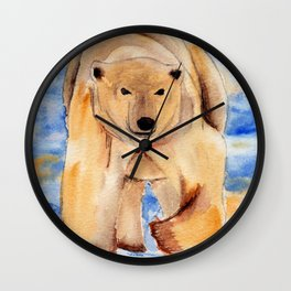 ours blanc Wall Clock