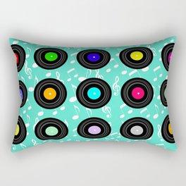 Old School Music (in Aqua) Rectangular Pillow