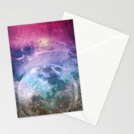 MOON under MAGIC SKY I Stationery Cards