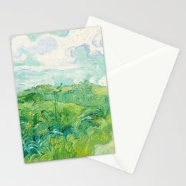Green Wheat Fields - Auvers, by Vincent van Gogh Stationery Cards