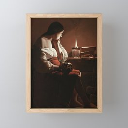 The Magdalen with the Smoking Flame Framed Mini Art Print