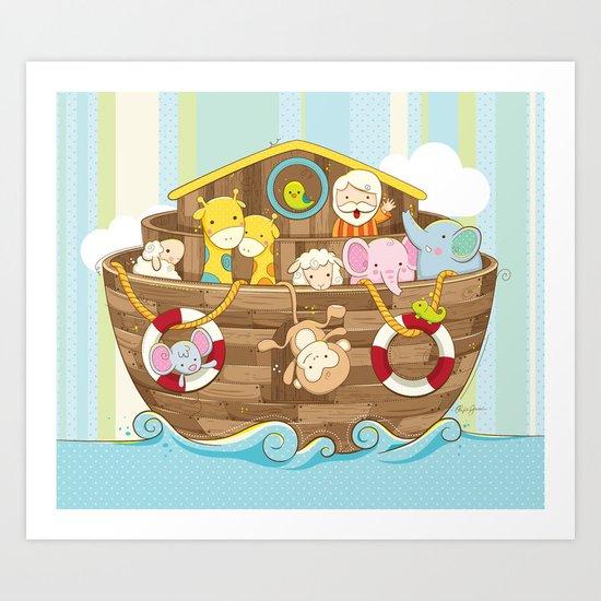 Baby Noah Ark Art Print