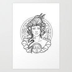 Zodiac Series | Aries Art Print