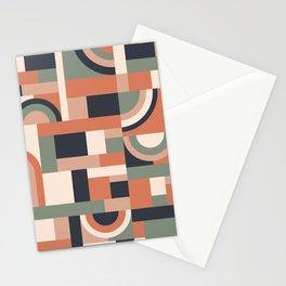 Earth Tones Blocks #society6 #pattern Stationery Cards