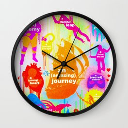 """""""YOUR OWN ADVENTURE"""" Wall Clock"""