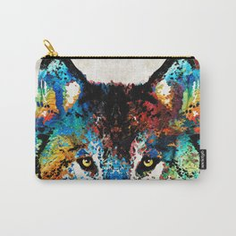 Wolf Art Print - Hungry - By Sharon Cummings Carry-All Pouch