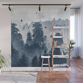 Amazing Forest Morning Nature Photography Wall Mural