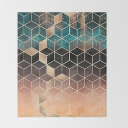 Ombre Dream Cubes Throw Blanket
