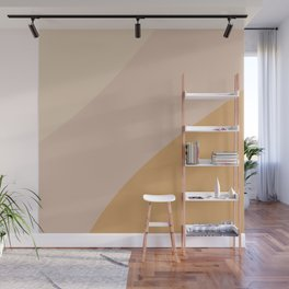 Warm Neutral Color Wave Wall Mural