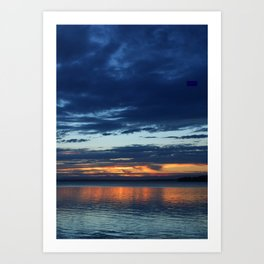 Sunset At St Georges Basin Art Print