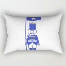 French toy soldier standard-bearer, drawing with letterpress effect. Rectangular Pillow
