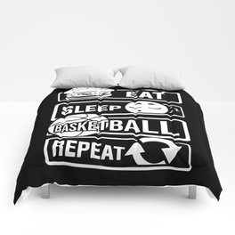 Eat Sleep Basketball Repeat - B-Ball Team Dunk Comforters