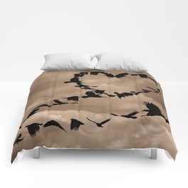 Heart of Crows (Birds) A276 Comforters