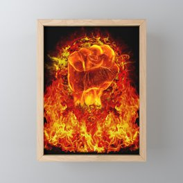 FIRE POWER Framed Mini Art Print