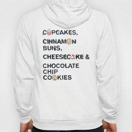Favourite Things - Cupcakes, Cinnamon Buns, Cheesecake & Chocolate Chip Cookies Hoody