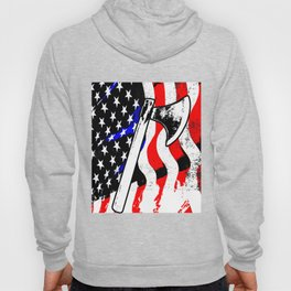 Firefighter American Flag Fire Ax Department Gift Hoody