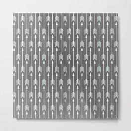 Grey Arrow Metal Print