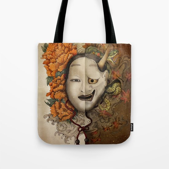noh yin and yang Tote Bag
