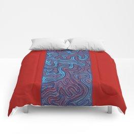 Stitches - Coral Comforters