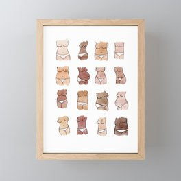 Hello, girls! // Boobs and butts Framed Mini Art Print