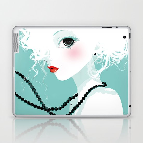 Black pearls Laptop & iPad Skin