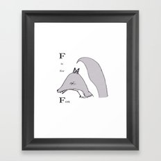 'F' Is For Fox Framed Art Print