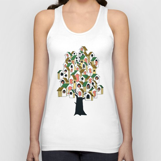Bird houses Unisex Tank Top