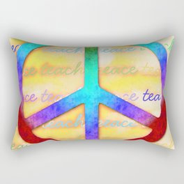 Teach Peace Rectangular Pillow