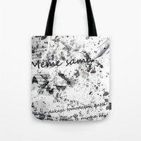 meme Tote Bags featuring Meme sama by Anthony Hery