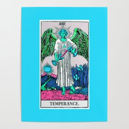 14. Temperance- Neon Dreams Tarot Poster