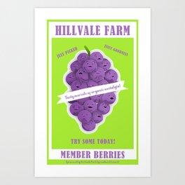 Hillvale Farms Member Berries Art Print