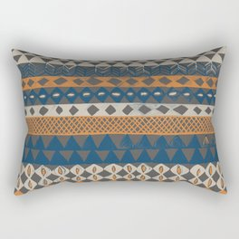 Hand Painted Ethnic Pattern Rectangular Pillow