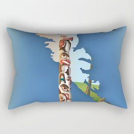 haida gwaii British Columbia map Rectangular Pillow